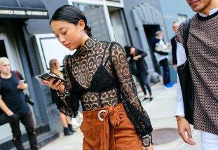 Her shirt, Zimmermann blouse and Tibi skirt.