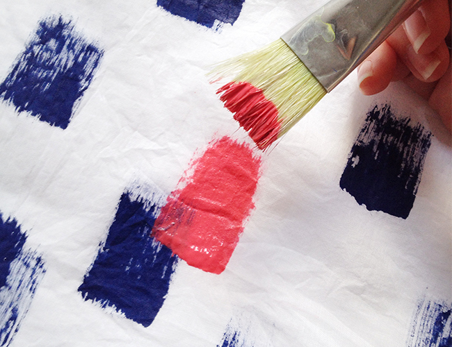 Spread - DIY: Brush Stroke Scarf
