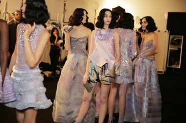 Backstage at Giorgio Armani Privé Couture Spring 2016