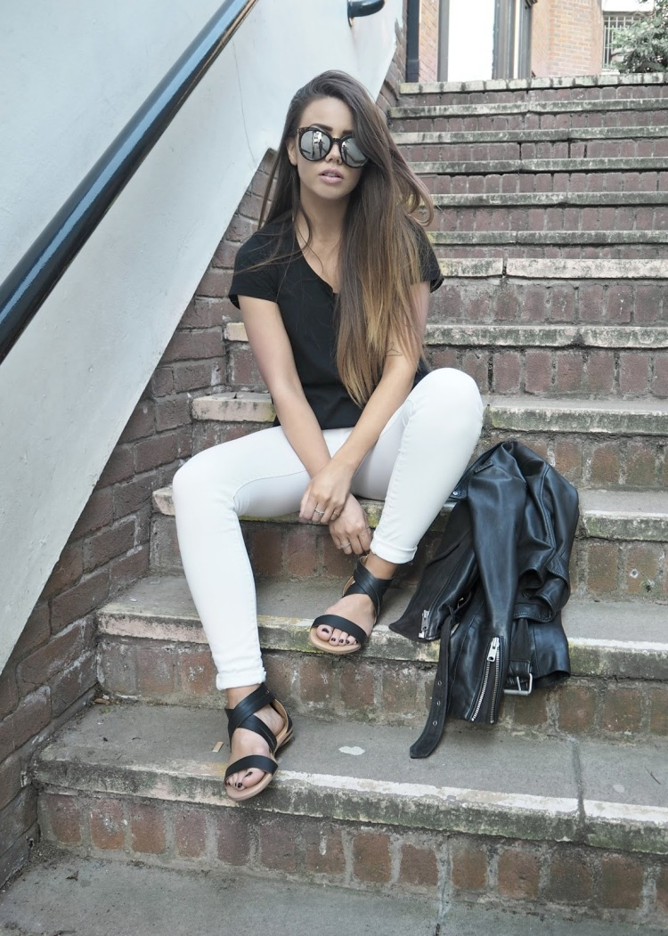 copper garden, fashion and lifestyle blogger, monochrome outfit for summer, uk bloggers you need to follow,
