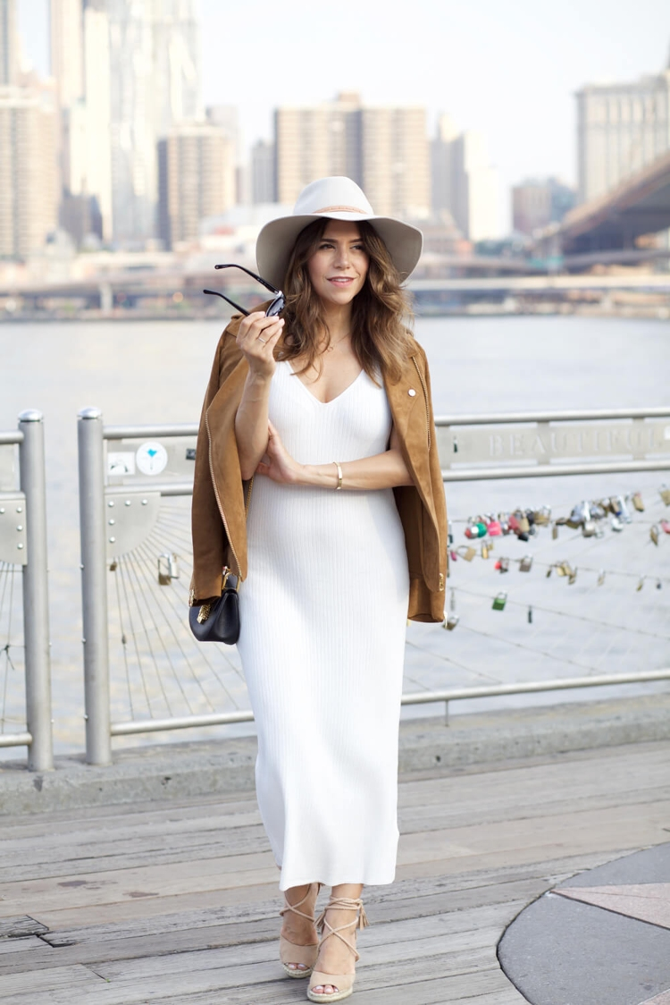 hm-faux-suede-jacket-white-dress-ag-denim-stripe-off-shoulder-top-pencil-skirt-cami-fall-outfit-nordstrom-hat-corporate-catwalk1