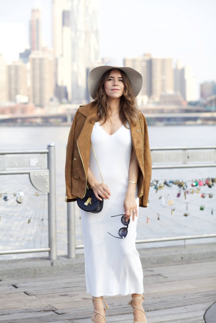 hm-faux-suede-jacket-white-dress-ag-denim-stripe-off-shoulder-top-pencil-skirt-cami-fall-outfit-nordstrom-hat-corporate-catwalk2