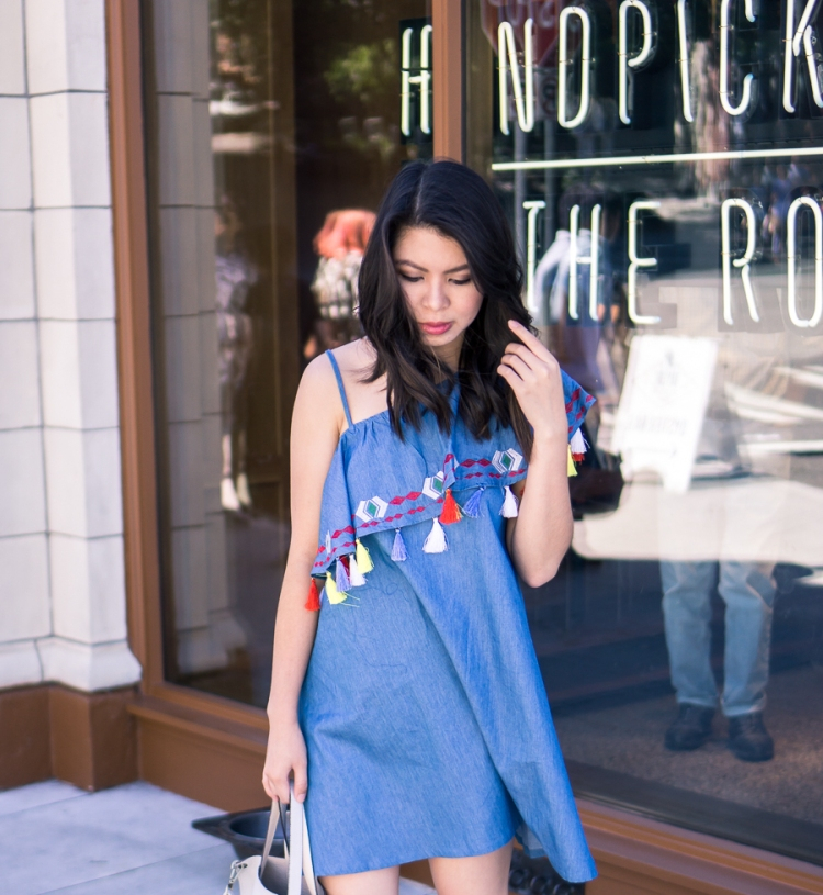 justatinabit-shein-tassel-one-shoulder-dress-summer-outfit-petite-fashion-blog-1