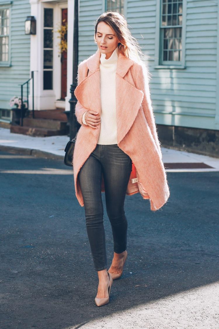 paper-crown-pink-coat-skinny-jeans-nude-heels-jess-ann-kirby