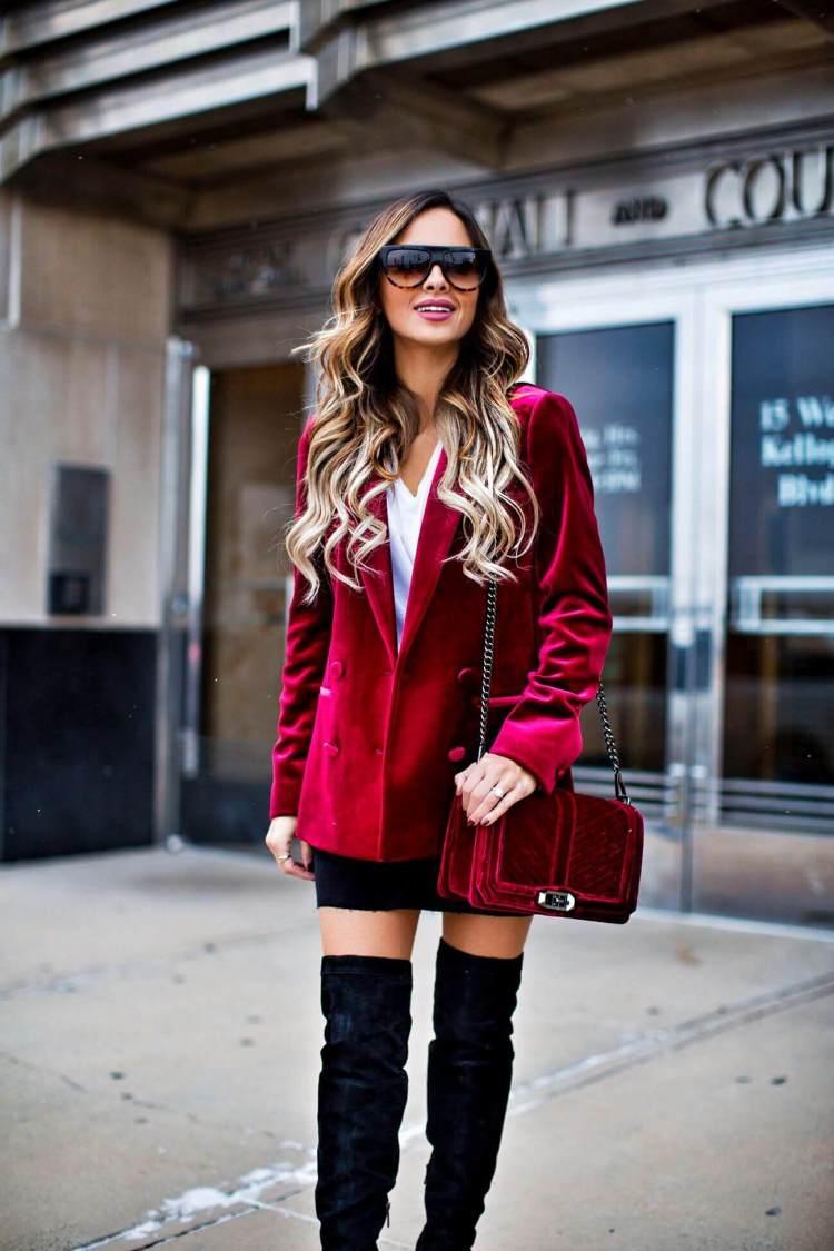 topshop-burgundy-velvet-blazer